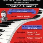 piano à 4 mains Carnaval des animaux, le Sacre du printemps