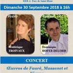 Concert violon et piano au Temple Protestant de Saint-Maur