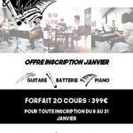SCHOOL MUSIC WEST - Offre promotionel pour cours de piqno,guitare et batterie