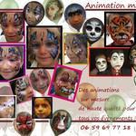 """Animations """"Maquillage enfant"""" et ateliers créatifs"""