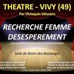 """""""RECHERCHE FEMME DESESPEREMENT"""" A VIVY (49)"""