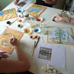 cours de peinture a tempera et arts plastiques à partir de 6 ans