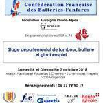 Stage départemental de tambour, batterie et glockenspiel