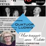 Colette, Notes de Tournée, M.C Barrault et le quatuor Ludwig