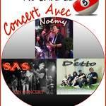 CONCERT : Noemy CHARA, DETTO et SAS