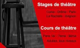 Les stages de théâtre à La Fabrique du Comédien