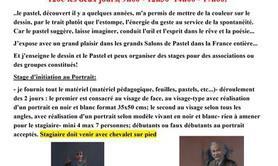 """Stage pastel d'Hélène Gaben Laurié """"Portrait noir et blanc"""""""