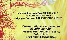 Chant a cappella par Au fil des voix de Romans-sur-Isère