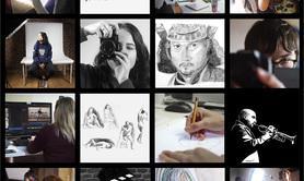 Alsace Image - Cours de dessin, fusain et peinture - Portrait avec modèle