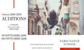 Formation Paris Dance School - Audition Formation Hip Hop - plurisdisciplinaire