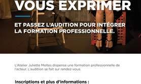 Ecole Atelier Juliette Moltes - Auditions Atelier Juliette Moltes