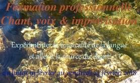 Formation professionnelle : chant, voix & improvisation
