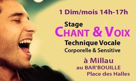 Stages VOIX & CHANT 1 dim/mois à Millau 14h-17h