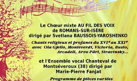 Au fil des voix & Chanteval: deux chœurs en concert