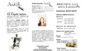 2013fc49b31d8a Arts D'après Nature - Ateliers cours de dessin et de peinture