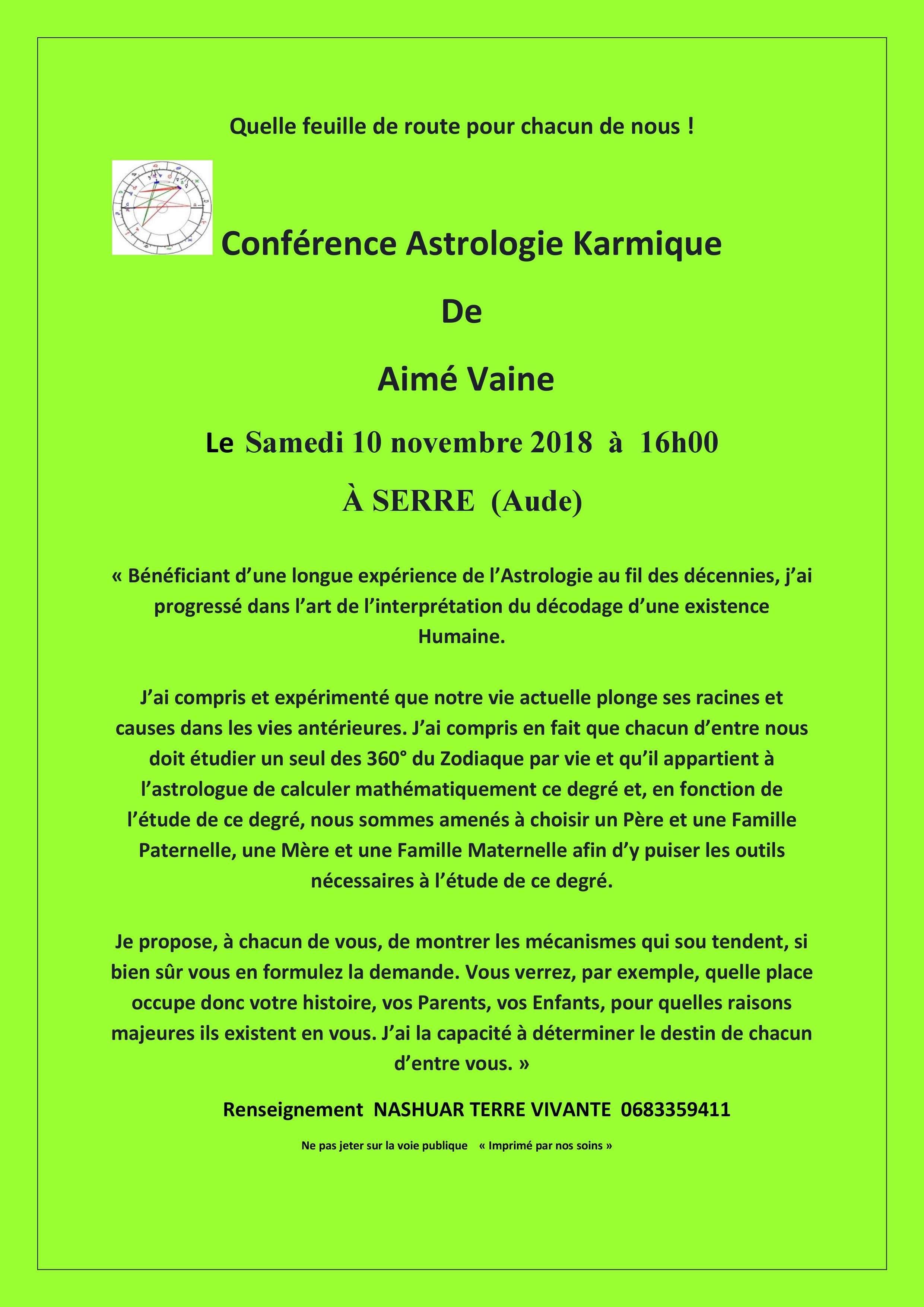 Conférence Astrologie Karmique