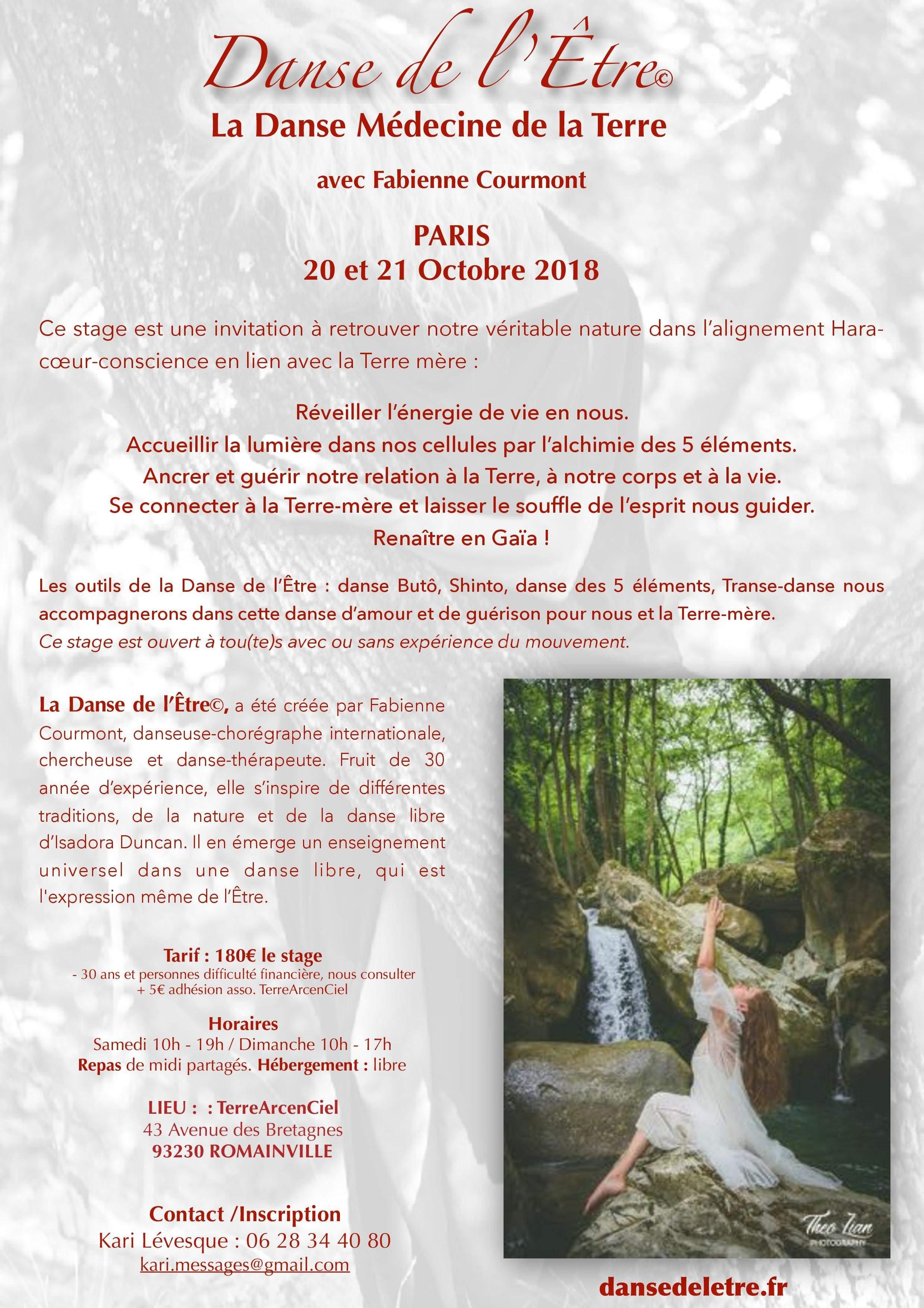 """Stage """"La Danse Médecine de la Terre"""" avec Fabienne COURMONT"""