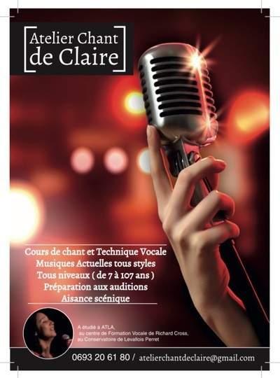 L'Atelier Chant de Claire - Cours de chant musiques actuelles