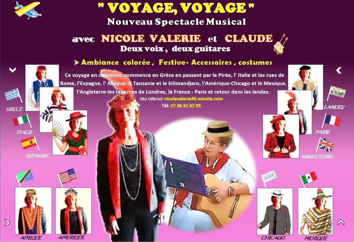 NICOLE VALERIE - VOYAGE,VOYAGE en chansons