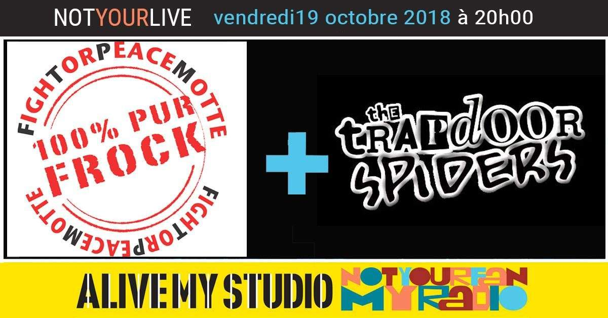 Fightorpeacemotte + Trapdoor Spider live &Interview Radio pu