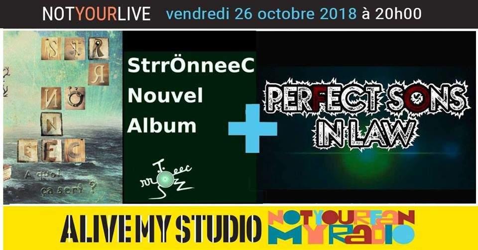 Perfect sons in law + StrrÖnneeC Concert&Interview Radio pub