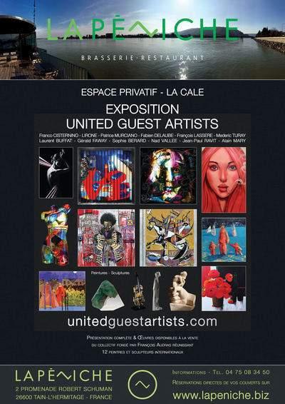 Exposition United Guest Artists à La Péniche - Tain-l'Hermitage