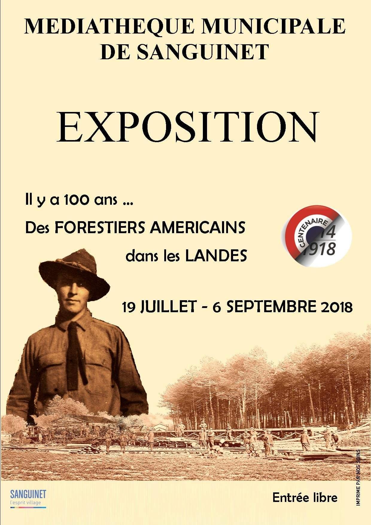 Il y a 100 ans...des Forestiers Américains dans les Landes