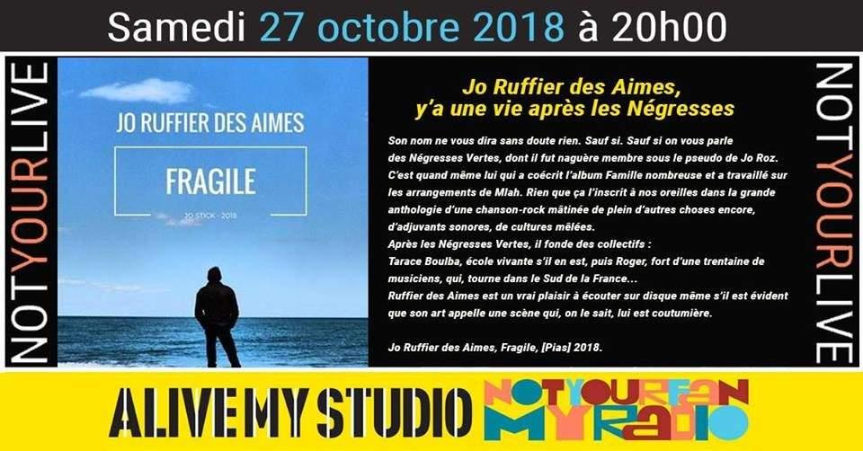 27 Jo Ruffier des Aimes : Concert&Interview Radio en public