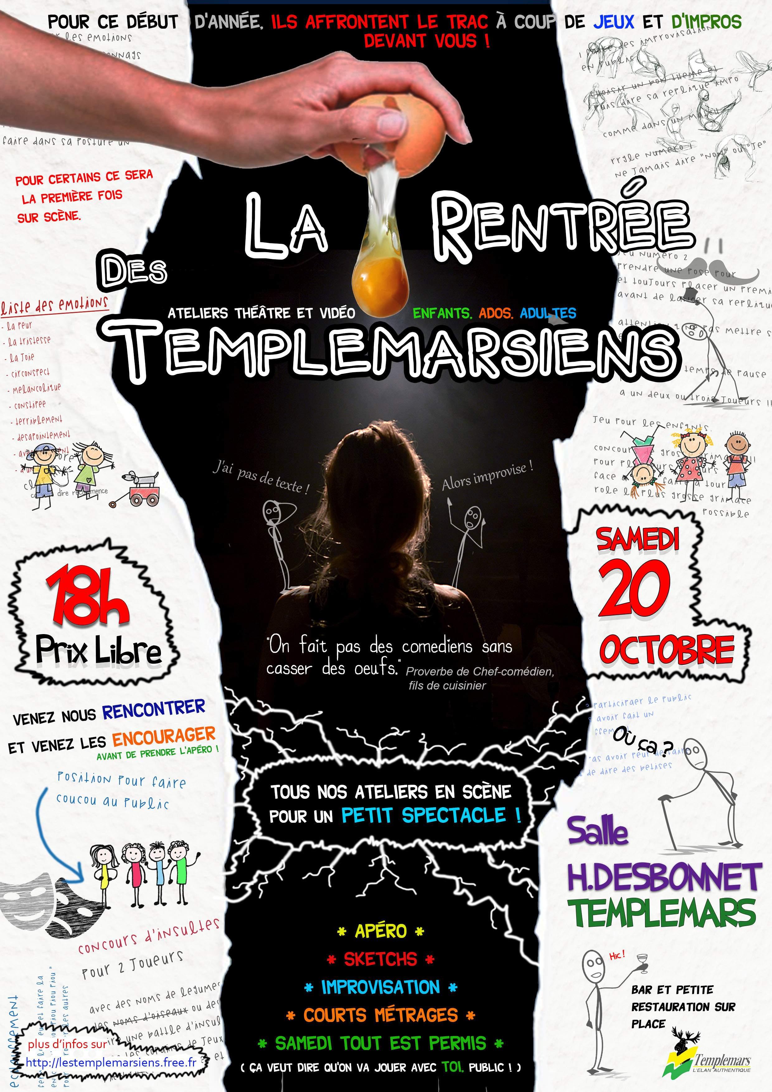 Apéro-Impros #1 - Le show de rentrée des Templemarsiens !