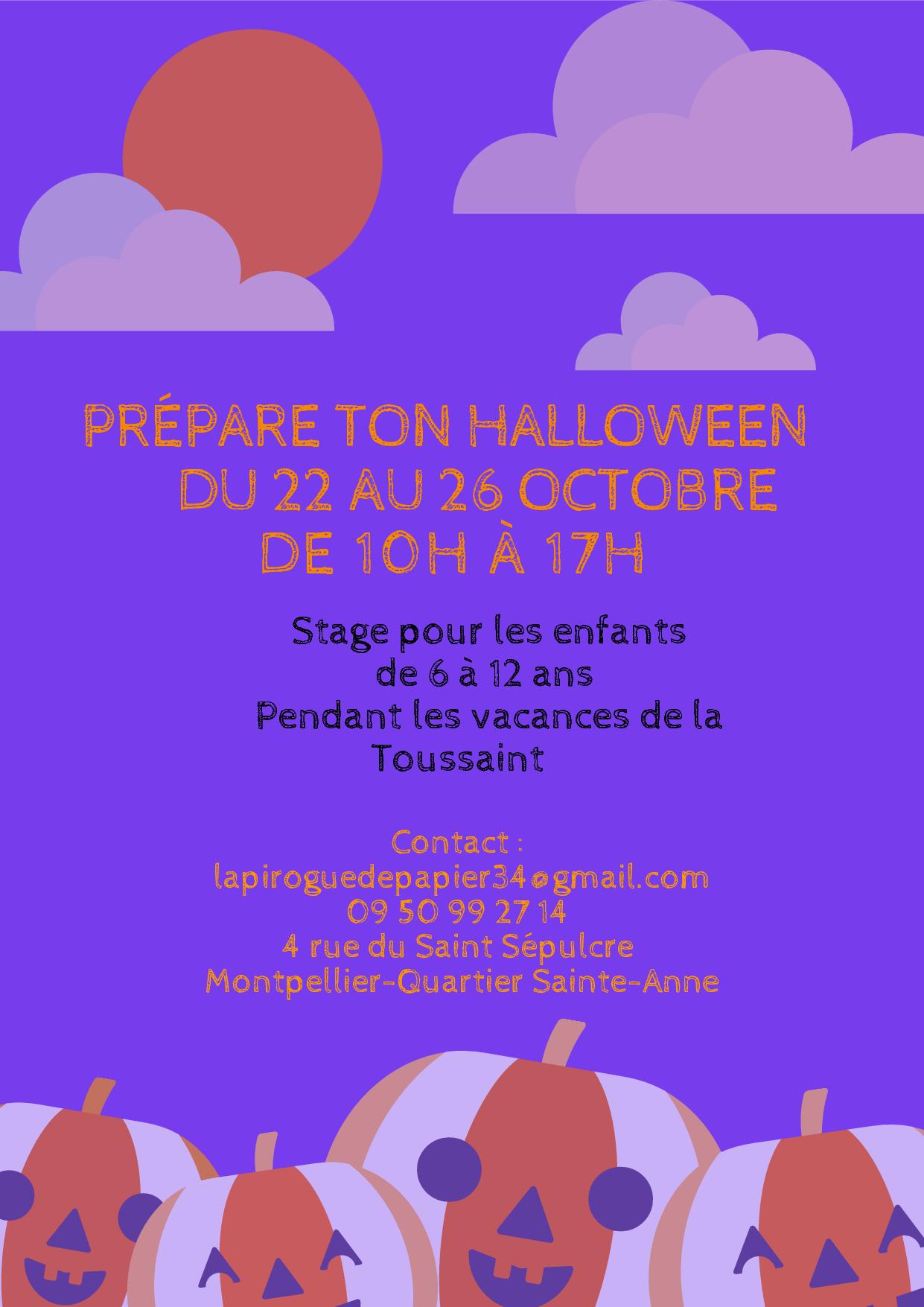 Stage enfant : Prépare ton halloween