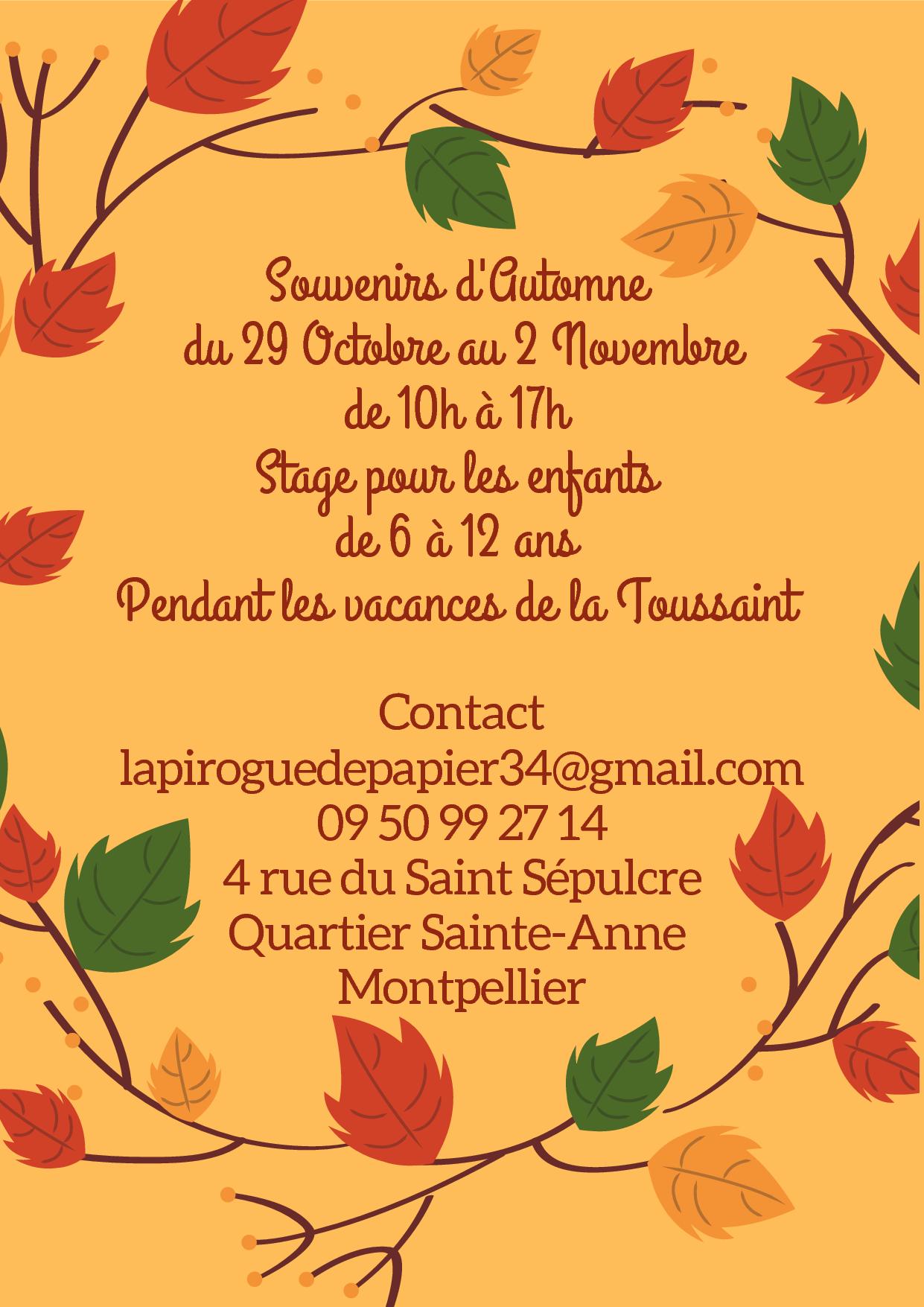 Stage enfant : Souvenirs d'automne