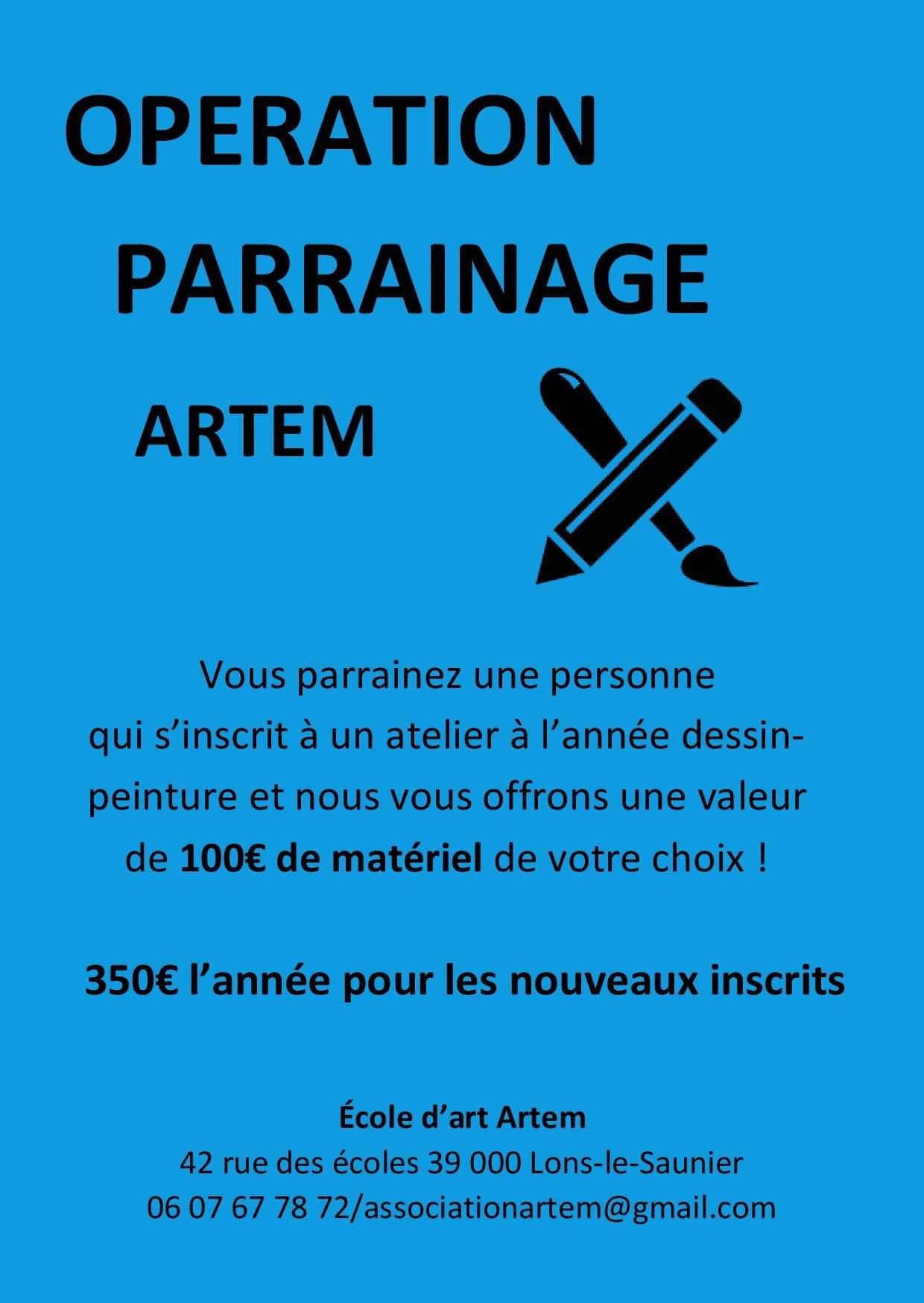 Ecole d'art ARTEM - Cours de dessin peinture