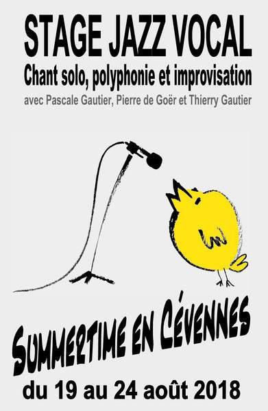 "Stage de Jazz vocal ""Summertime en Cévennes"""
