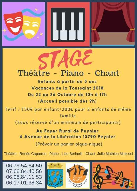 Stage Théâtre-Piano-Chant