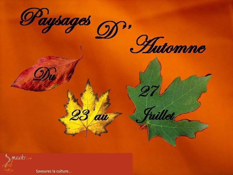 """exposition """"paysages d'automne"""""""