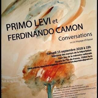 Théâtre en plein air   Primo Levi et Ferdinando Camon.
