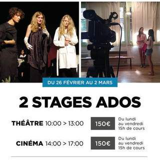 2 stages Ados Théâtre - Cinéma