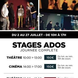 Ecole Atelier Juliette Moltes - Stage Théâtre/cinéma Ados Juillet