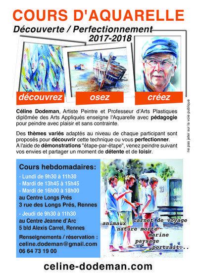 Céline DODEMAN - Cours d'aquarelle