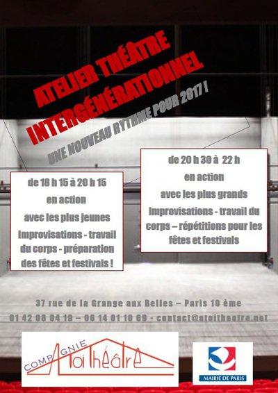 Atelier Théâtre Intergénérationnel avec A TOI THÉÂTRE - Année 2017