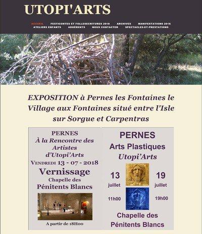 PERNES Les Fontaines expose Utopi'Arts