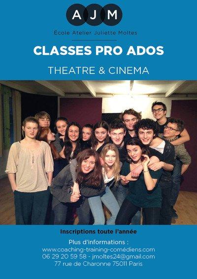 Atelier Juliette Moltes - La Classe Pro Théâtre/Cinéma Ados