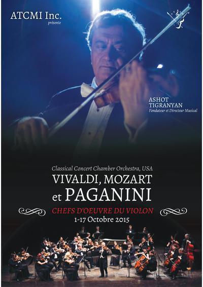 Ashot Tigranyan et le Classical Concert Chamber Orchestra en concert