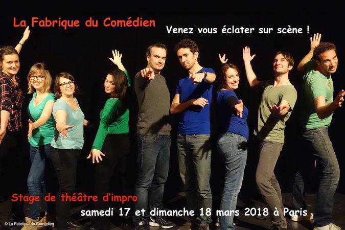 Stage théâtre week-end d'impro Paris - Mars 2018