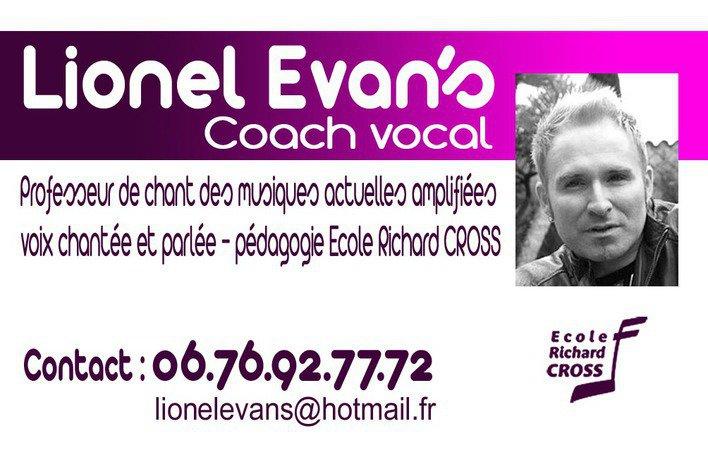 Coaching vocal Pédagogie Richard Cross avec Lionel Evan's