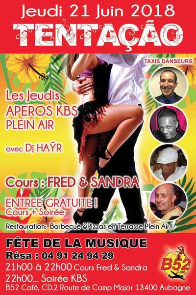 Jeudi 21 Juin FÊTE DE LA MUSIQUE au B52 Café à Aubagne (Entr