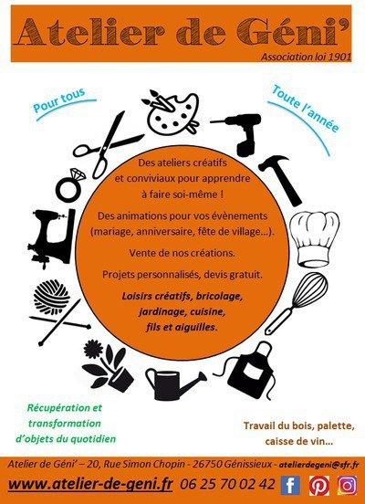 9351f9b81c7d0 Atelier de Géni  - Loisirs créatifs