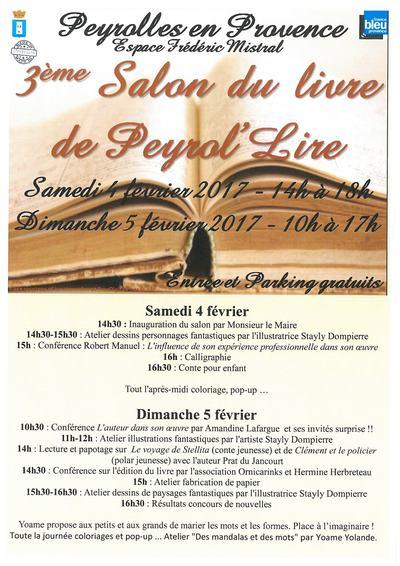 Salon du livre peyrolles en provence 2017 peyrolles en for Salon du livre 2017 montreuil