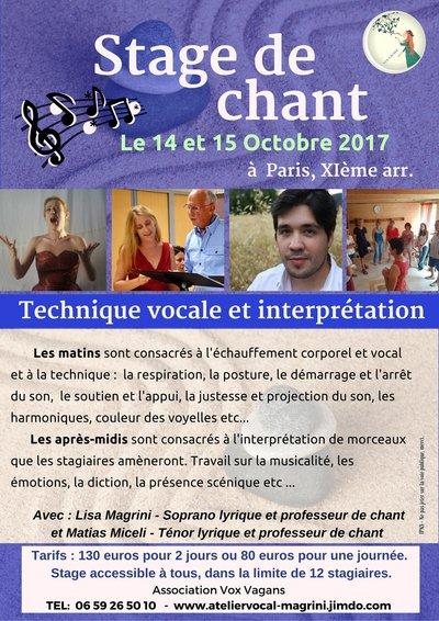 Stage de chant - Technique vocale et interprétation