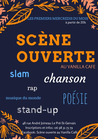 Scène ouverte au Vanilla Café